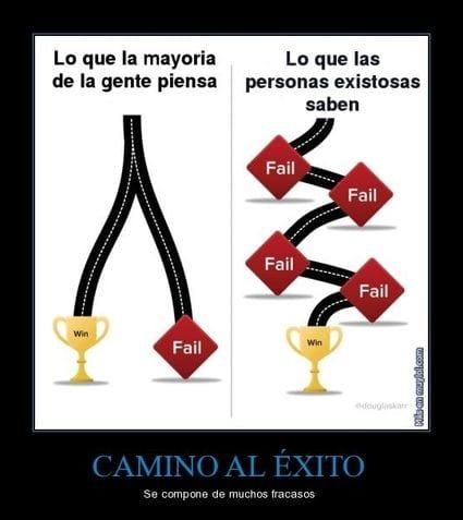 fracasar para lograr exito