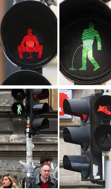 Imágenes creativas de semáforos