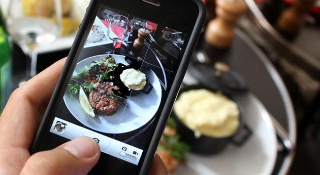foto a la comida