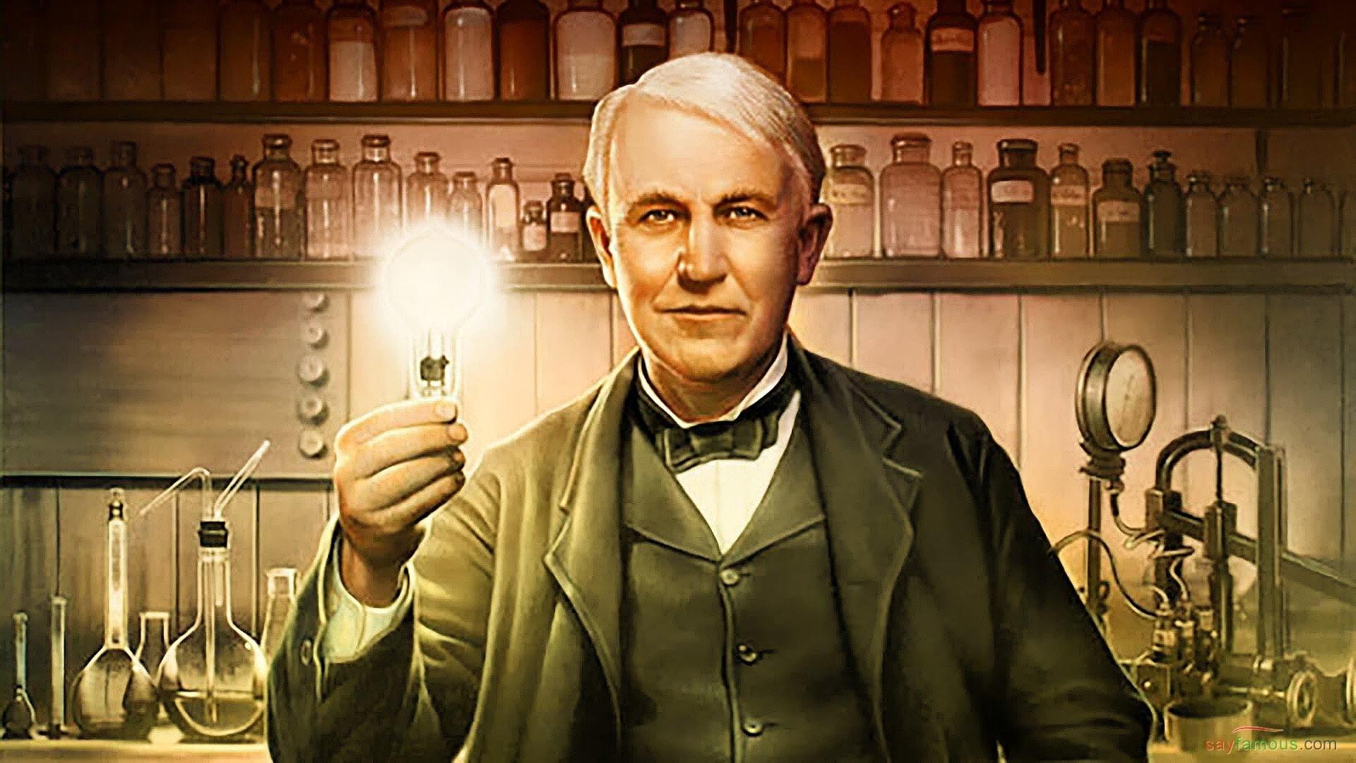 Edison inventó la bombilla