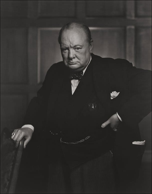Winston Churchill enfadado