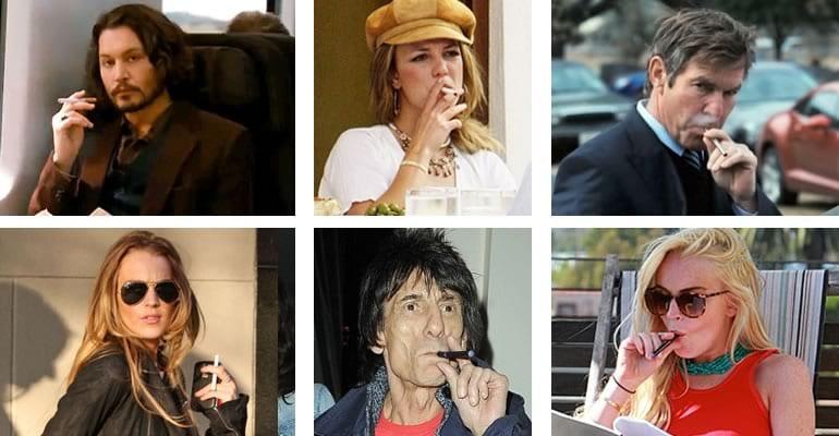 famosos cigarrillo electronico