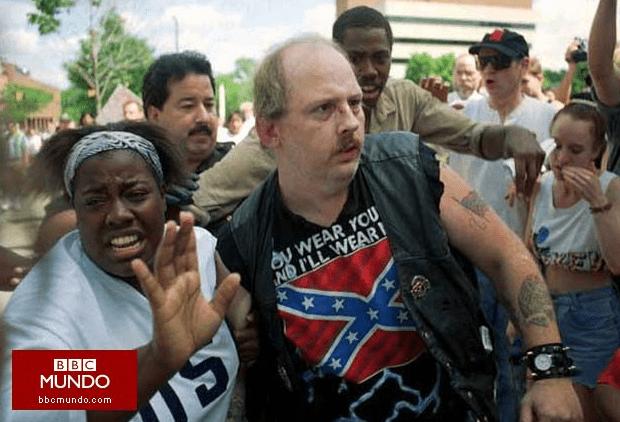 keshia thomas y el racista