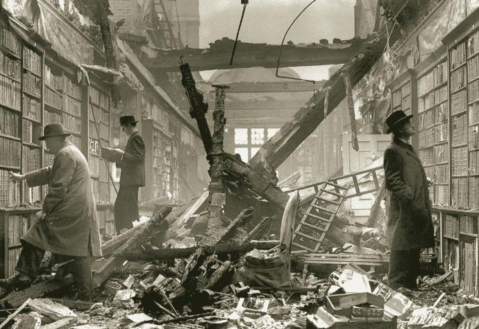 libreria destruida