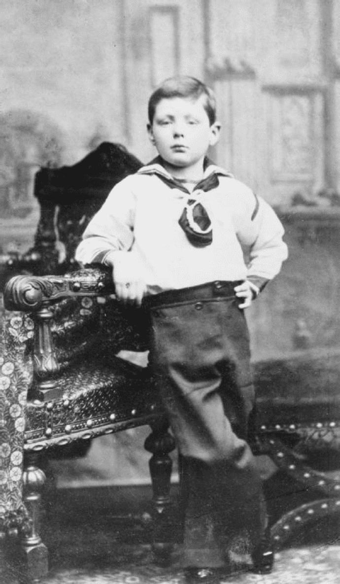 winston churchill con siete años