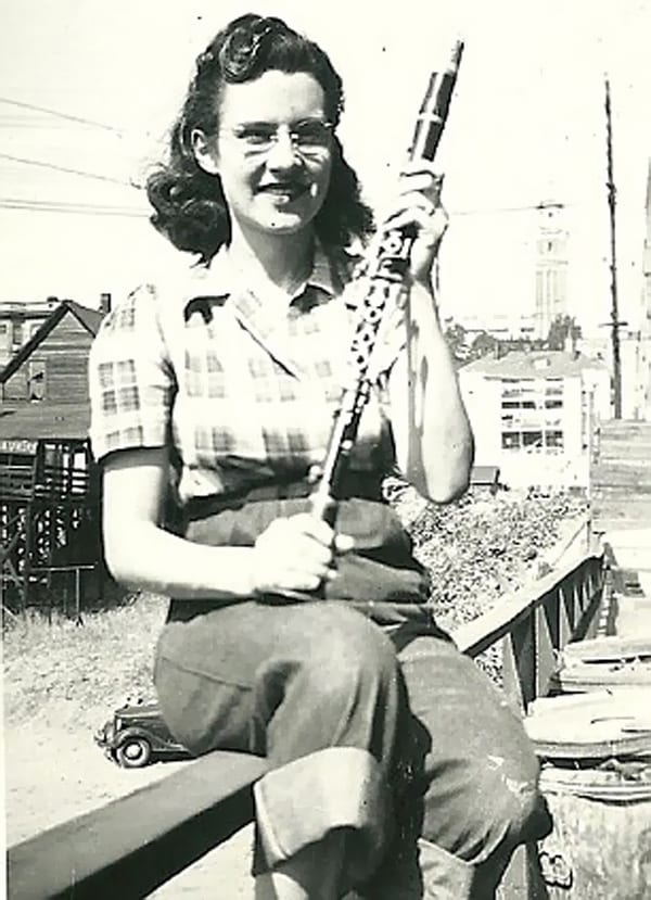 Edith Macefield joven