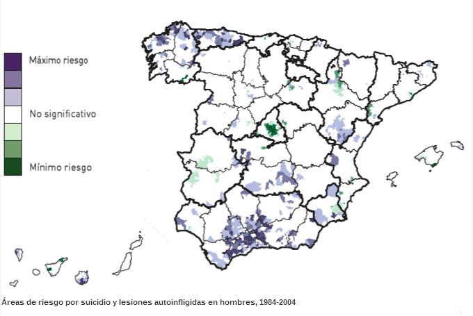 Zonas de alto riesgo de suicidio en España