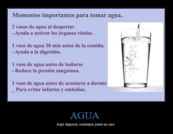 evitar cansancio con agua