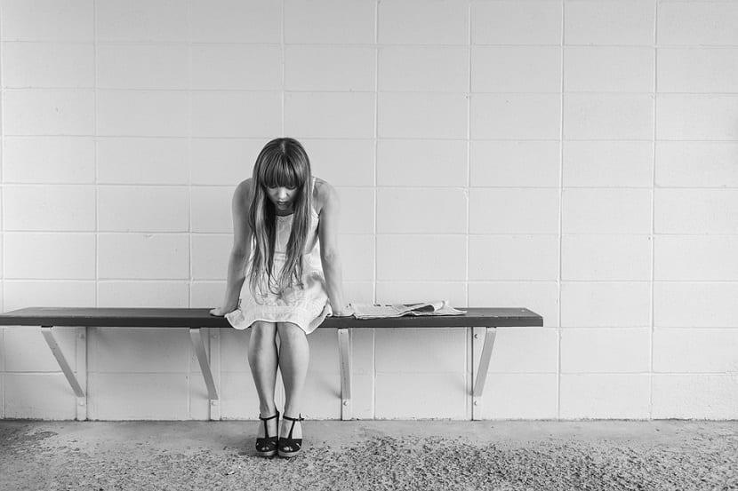 Persona con síntomas de depresión