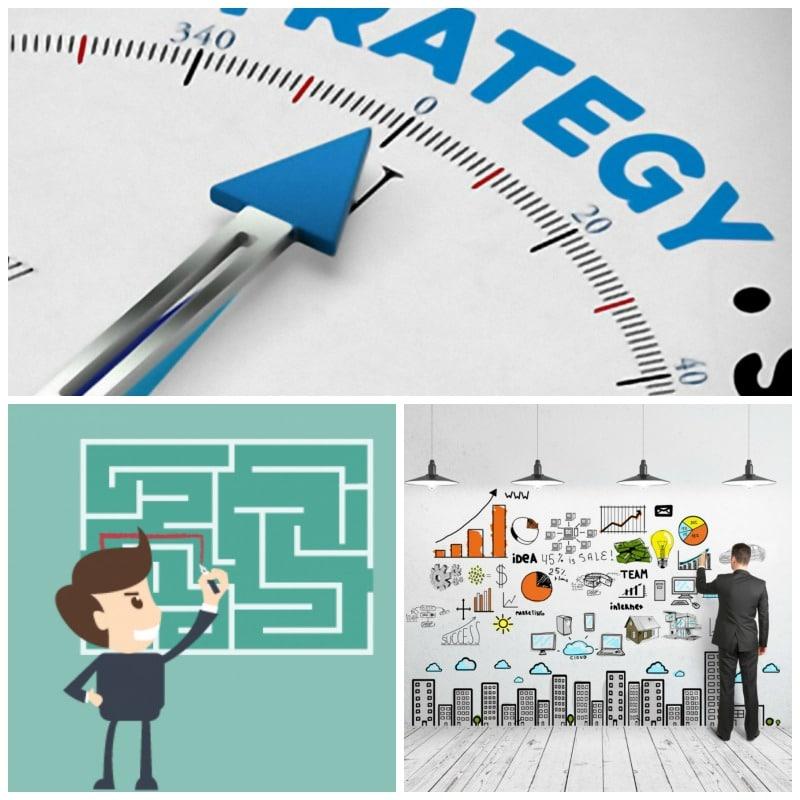 Los tipos de estrategia para alcanzar un objetivo determinado