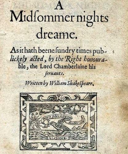 Sueño de una noche de verano de Shakespeare