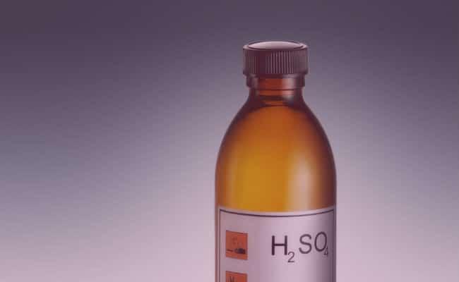 Toda la información acerca del ácido sulfúrico