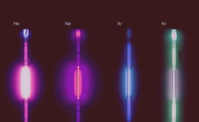Proceso de estudio de los gases nobles y su función en las industrias