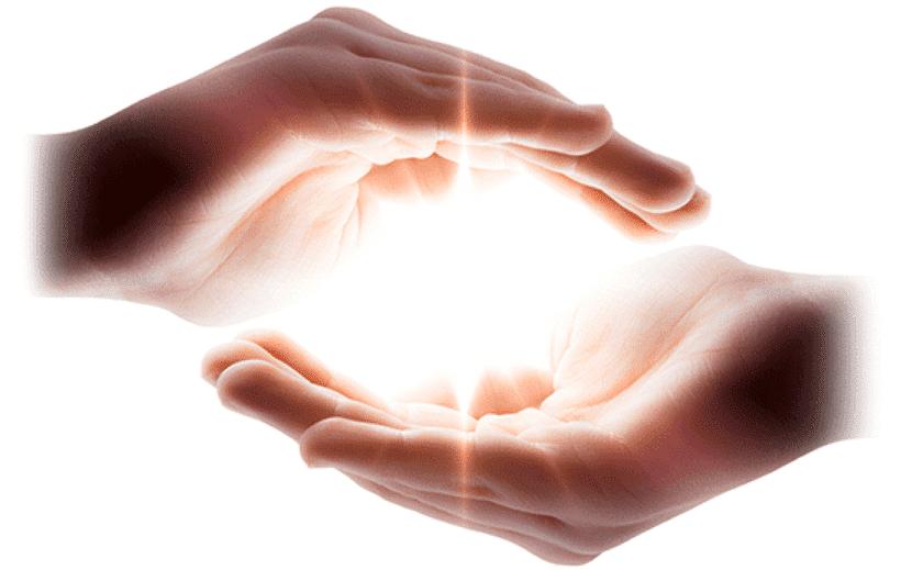 Energía del Reiki en las manos