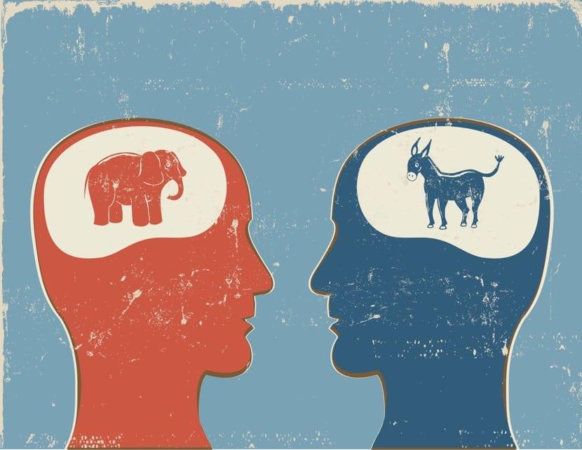 pensamiento distorsionado en mente humana