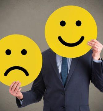 Hombre feliz e infeliz