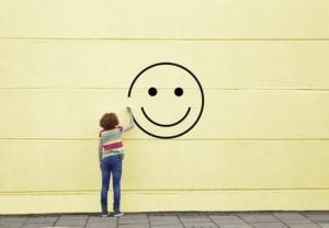 felicidad con una sonrisa
