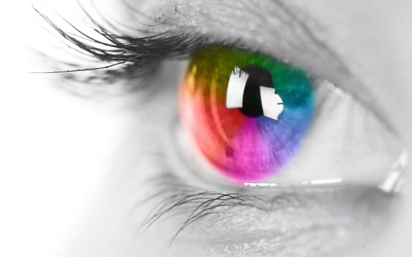 el ojo de una persona sinestésica