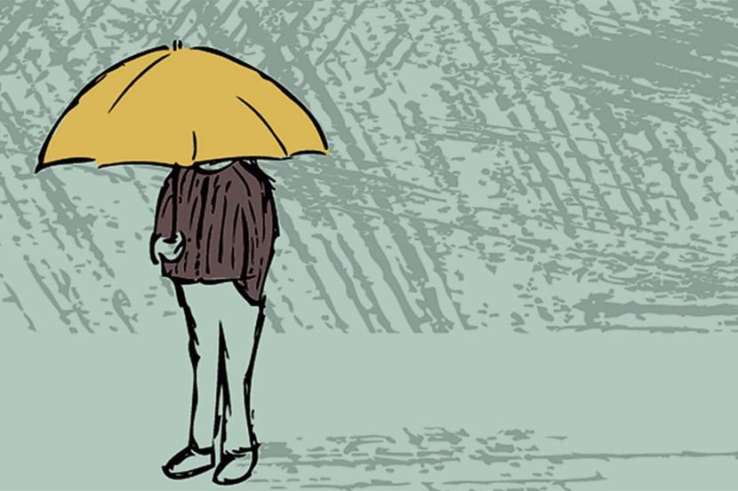 simbolo depresion con paraguas