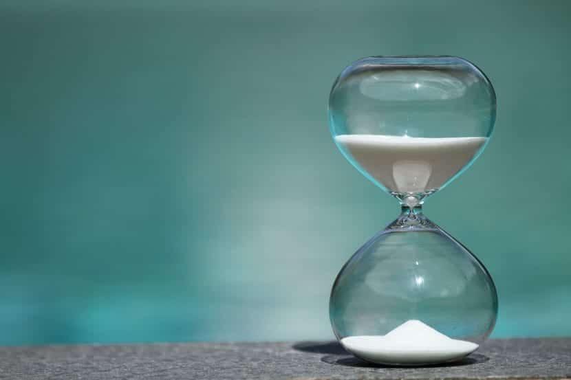 la paciencia en forma de reloj de arena