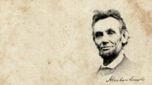 Abraham Lincoln y su firma