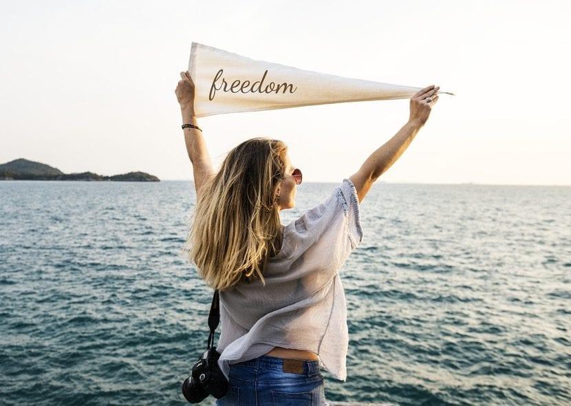 los pensamientos bonitos te dan libertad