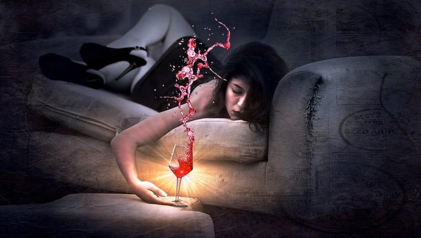 alcoholismo crónico chica