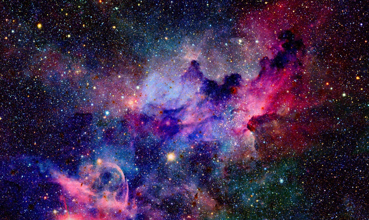 universo con color