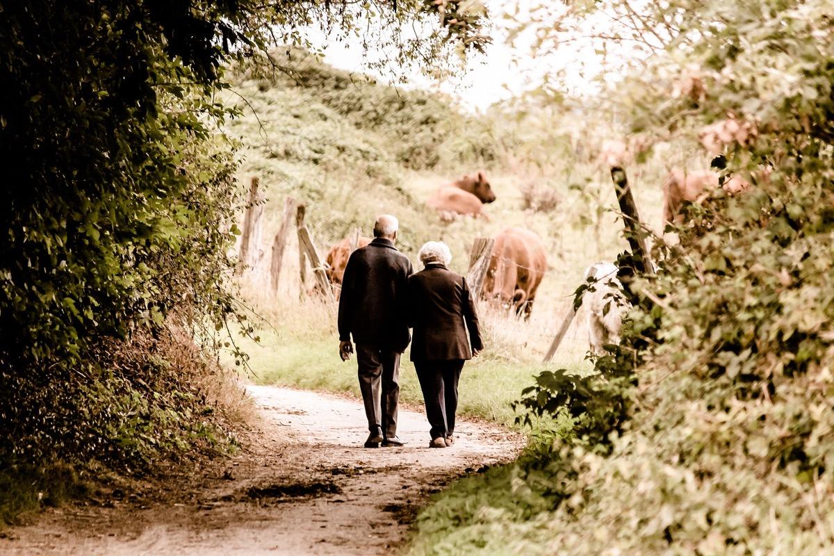pareja de abuelos felices en familia