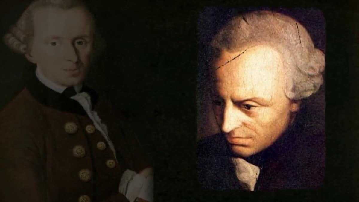 Immanuel Kant pensando frases